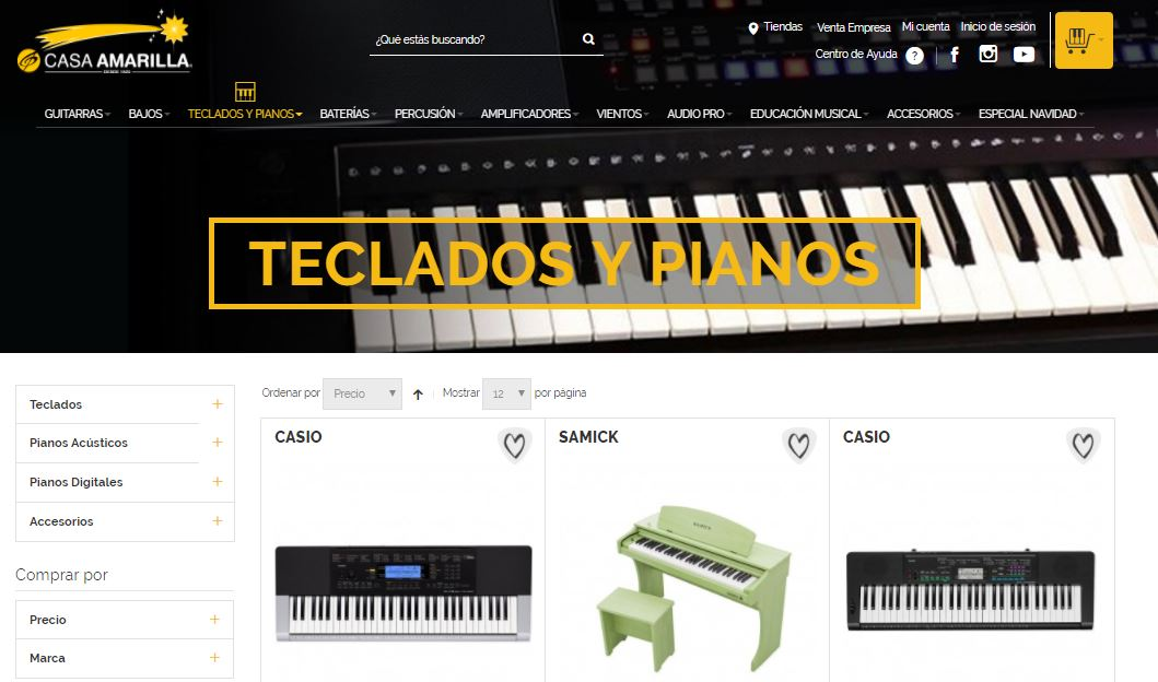 tienda online de instrumentos musicales casa amarilla