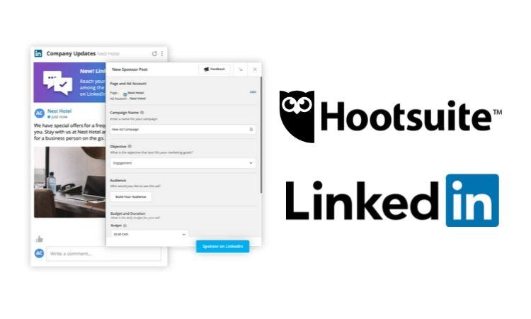 Ya puedes publicar posts patrocinados en LinkedIn desde Hootsuite