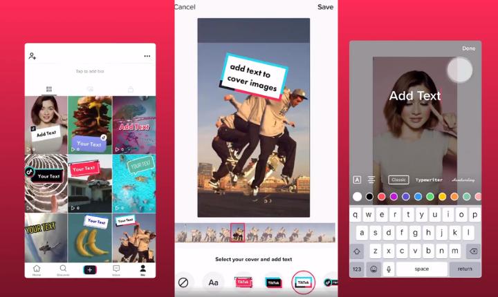 TikTok lanza la opción de poner texto en las portadas de tus vídeos