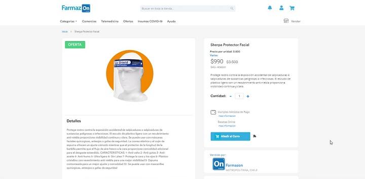 Ficha de producto en Farmazon
