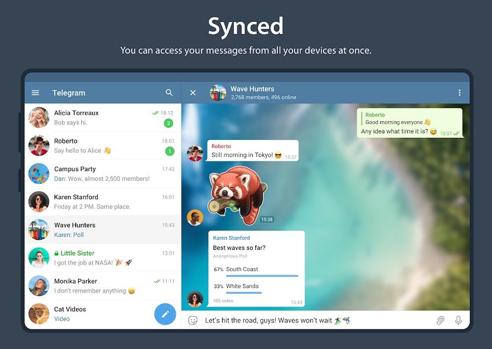 Telegram. apps de comunicación gratuitas