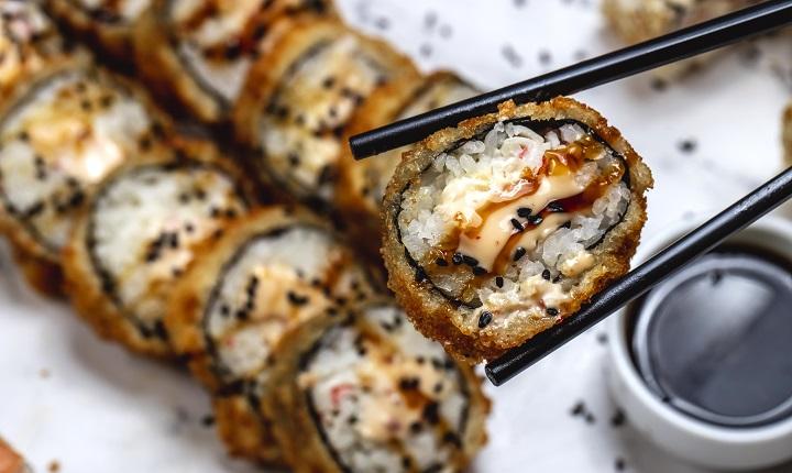 Foto sushi/ alimentos más pedidos en justo