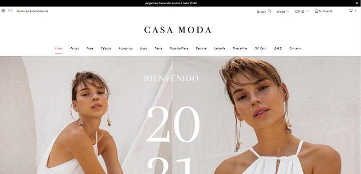 Home Casa Moda/ eCommerce de moda en Chile