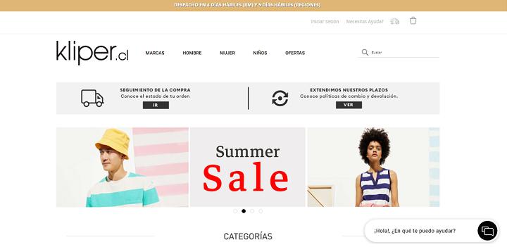 Home Kliper/ eCommerce de moda en Chile