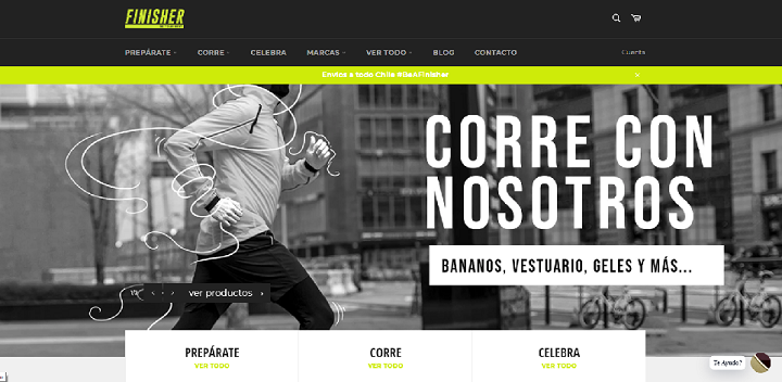 Finisher / eCommerce de deportes en Chile