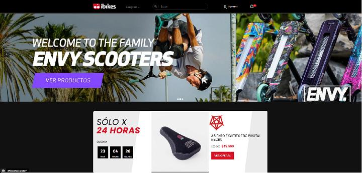 ibikes / mejores eCommerce de deportes en Chile