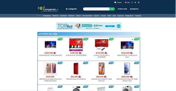 buscadores de ofertas Chile comparalo