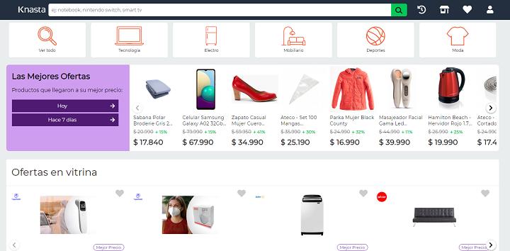 Top: los 6 más populares buscadores de ofertas en Chile / Knasta