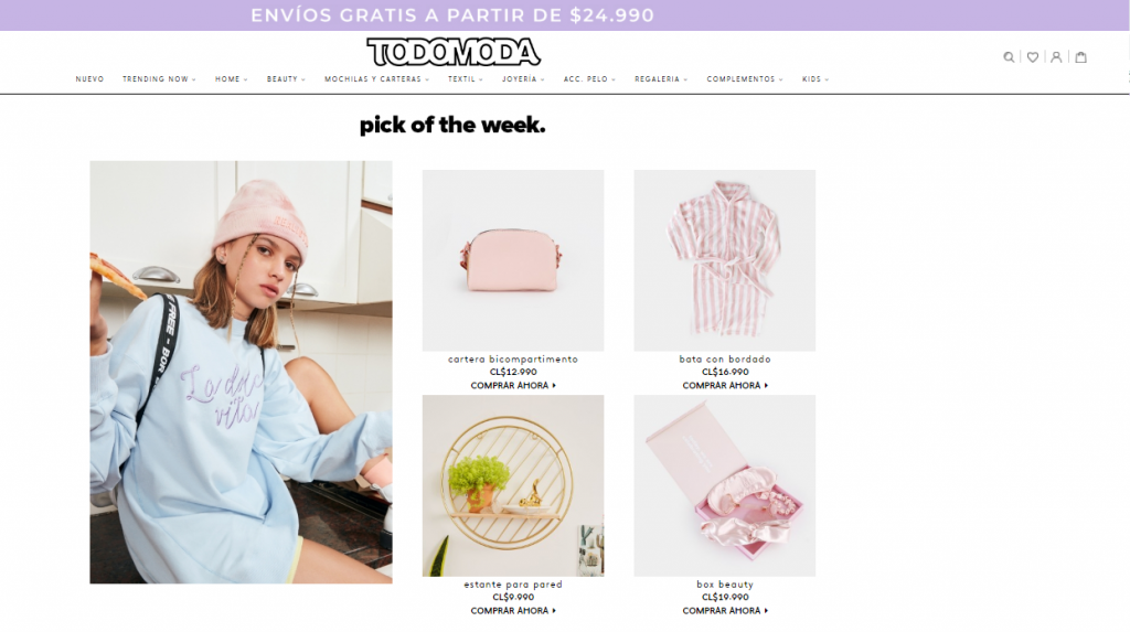 tienda online Todo Moda pick of the week